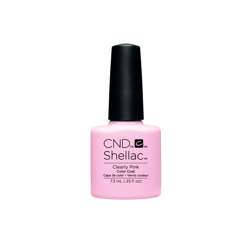 CND - CND SHELLAC GEL VERNIS SEMI PERMANENT 7.3ML - CLEARLY PINK