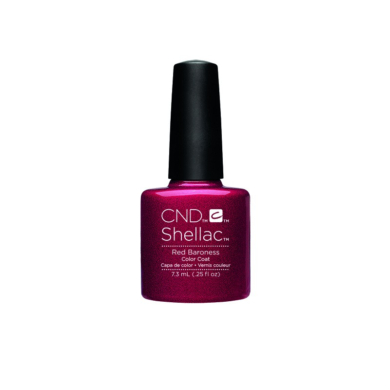 CND - CND SHELLAC GEL VERNIS SEMI PERMANENT 7.3ML - RED BARONESS
